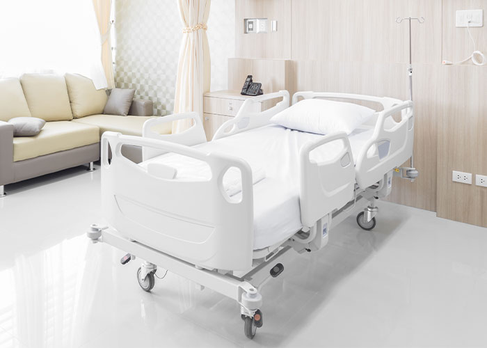 Image of a hospital bed